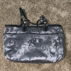 Coach Horse & Carriage print purse